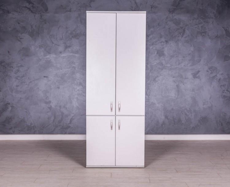 Шкаф для документов серый 4 двери