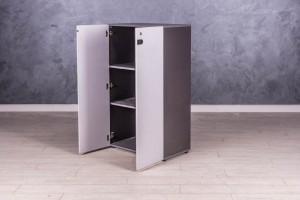 Шкаф для документов серый