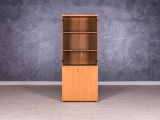 Шкаф для документов бук со стеклом