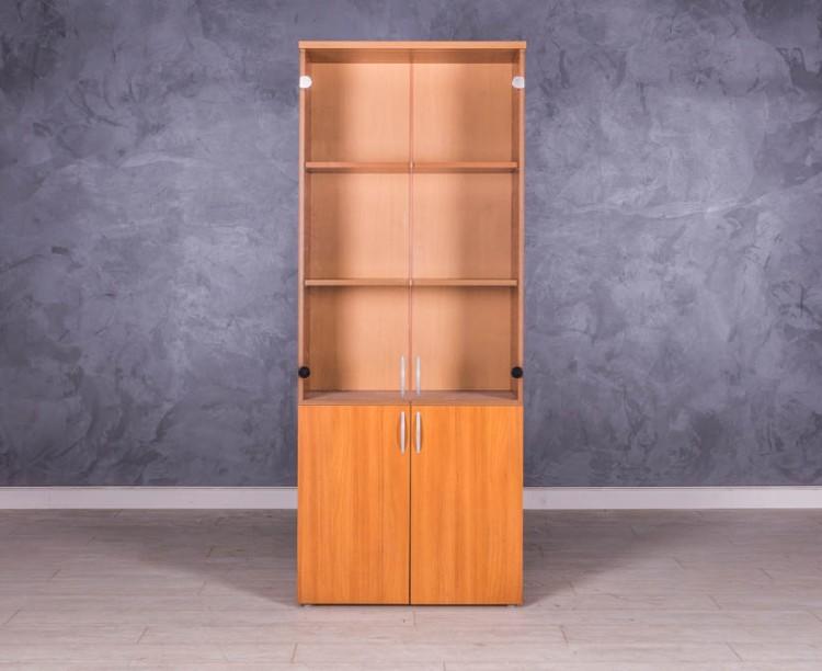 Шкаф для документов Орех стекло