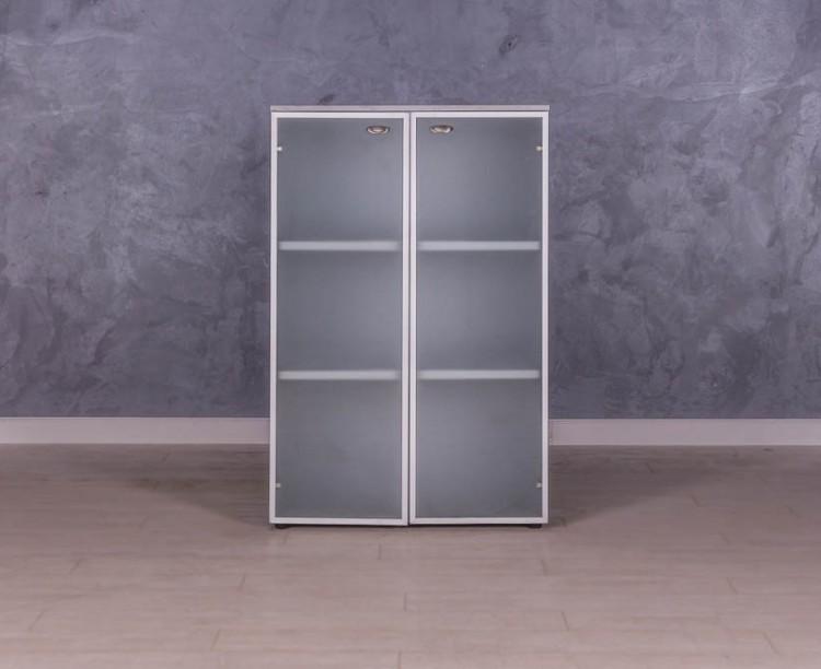 Шкафстеллаж со стеклом