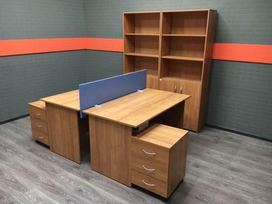Комплект офисный  для двух сотрудников Ольха