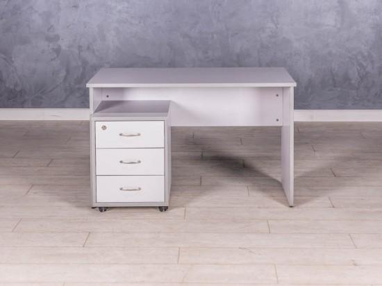 Стол прямой серый 1200 мм
