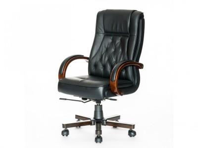 Новое кресло для руководителя, черная кожа