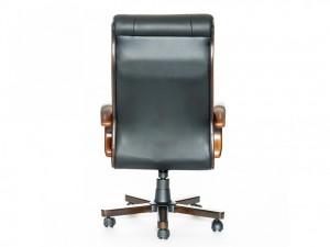 Новое кресло для руководителя, чёрная кожа