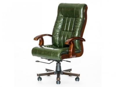 Новое кресло для руководителя, зеленое