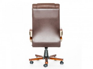 Новое кресло для руководителя, коричневая кожа