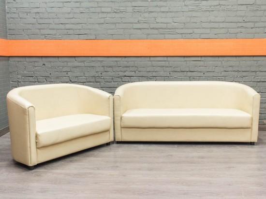 Комплект мягкой новой мебели в офис, экокожа
