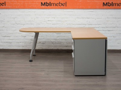 Компьютерный стол с приставной тумбой, Walter Knoll