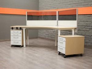 Стол офисный компьютерный с тумбой