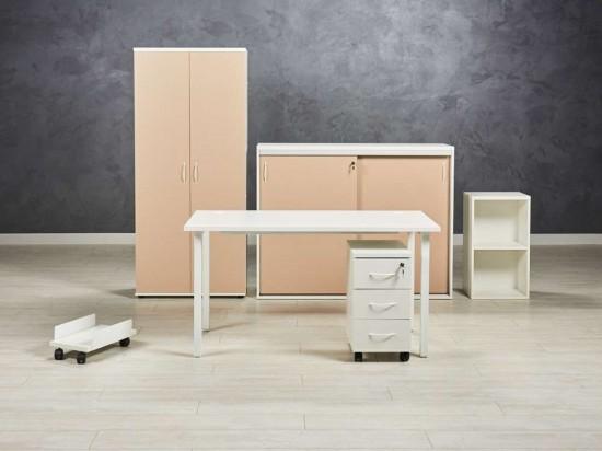 Комплект мебели для менеджера, цвет белый/капучино