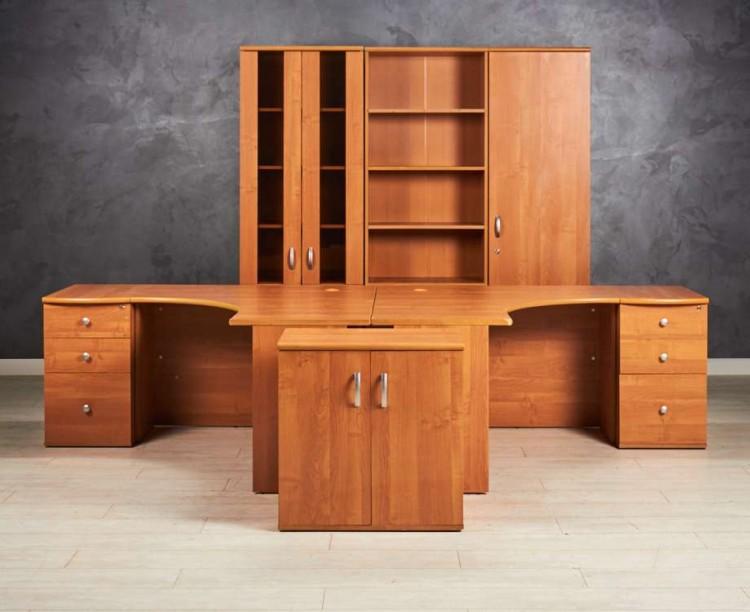 Комплект офисной мебели Феликс для двоих сотрудников, цвет ольха