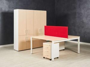 Комплект офисный, цвет молочный дуб