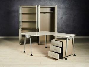 Комплект офисный, цвет серый
