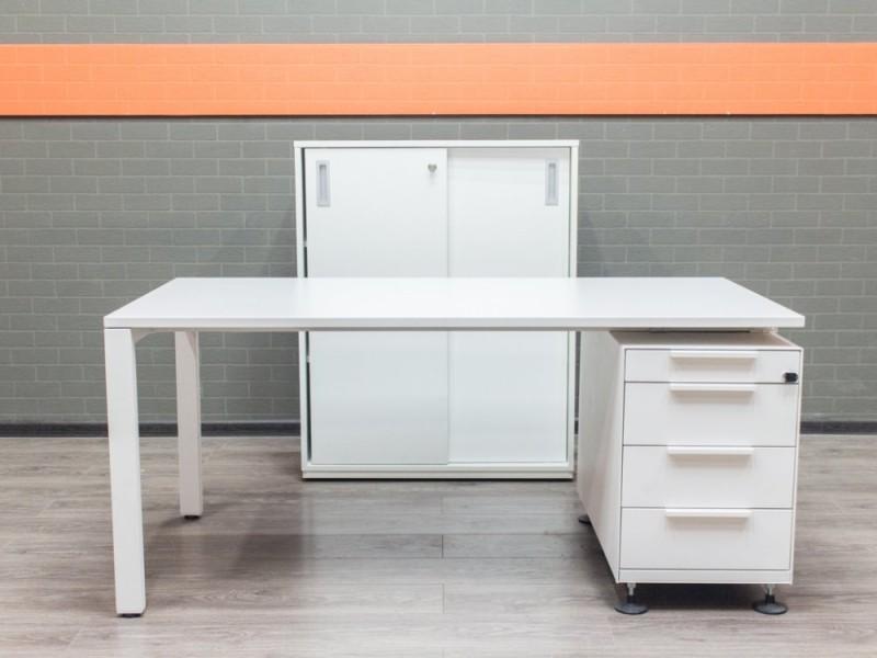 Комплект офисный белый Vitra, офисная мебель бу