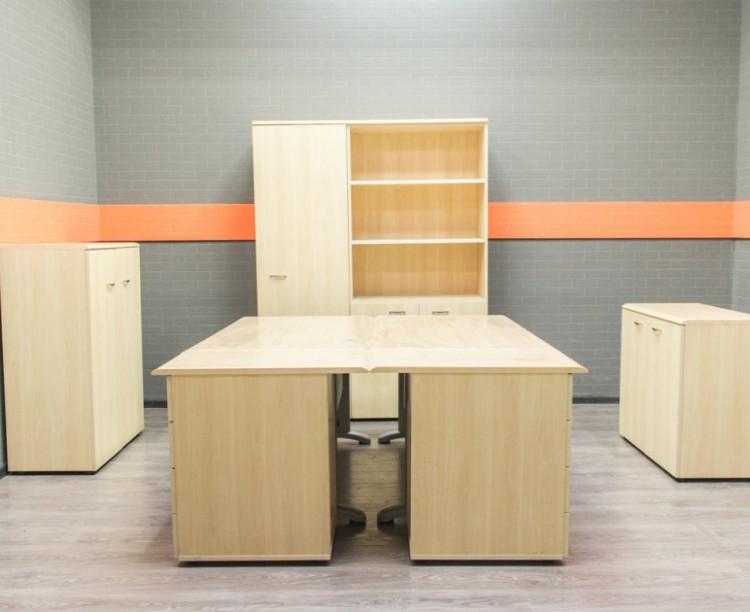 Комплект офисной мебели, клён, МДФ и ЛДСП