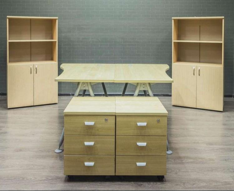 Комплект офисный клён для двух сотрудников