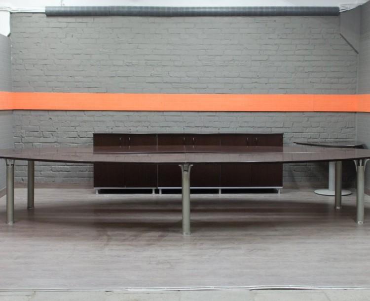 Стол для переговоров, шпон, офисная мебель бу