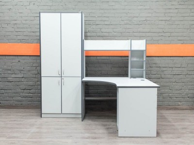 Комплект мебели для сотрудника, серый