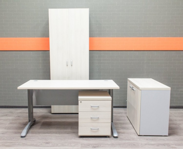 Комплект офисный для сотрудника, шпон и ЛДСП