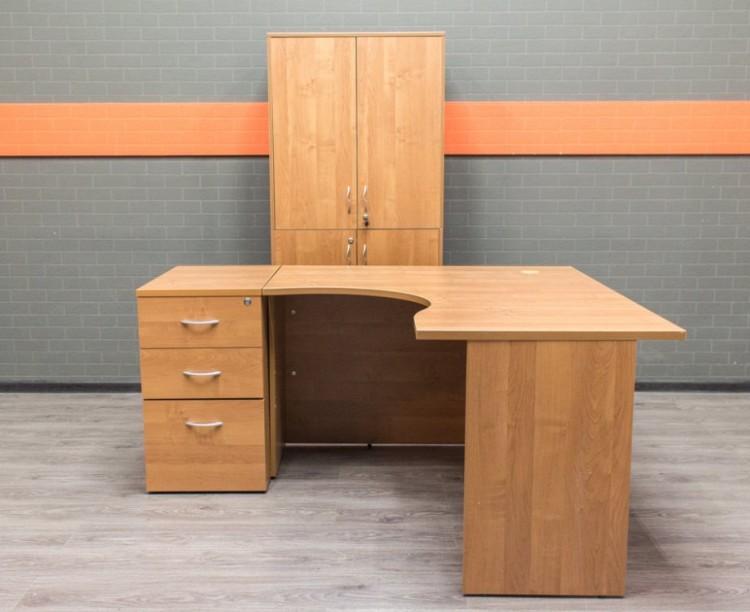 Комплект для сотрудника ольха, офисная мебель бу