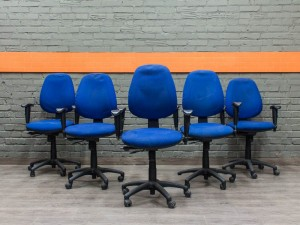 Компьютерное кресло Sitland Офисная мебель бу синее