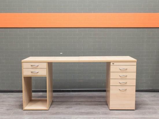Стол с двумя тумбами, Офисная мебель бу, бук