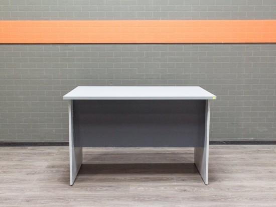 Стол прямой офисный, серый