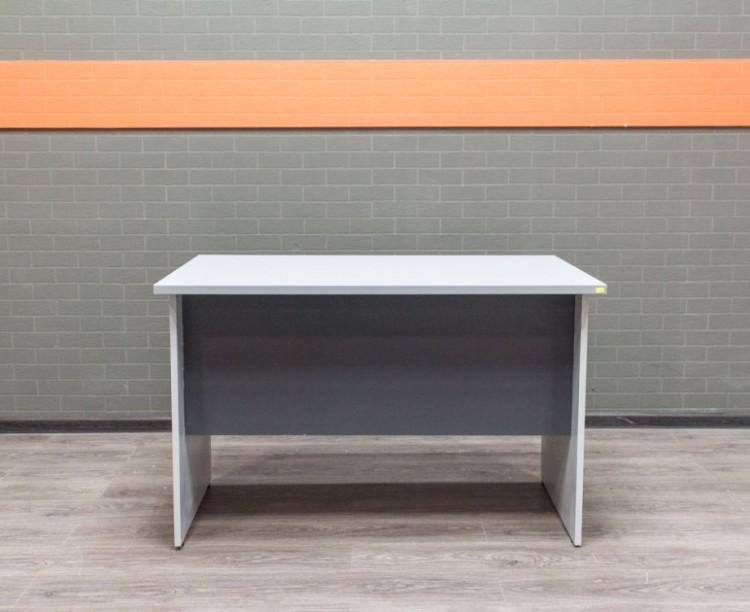Офисная мебель бу Стол прямой офисный, серый