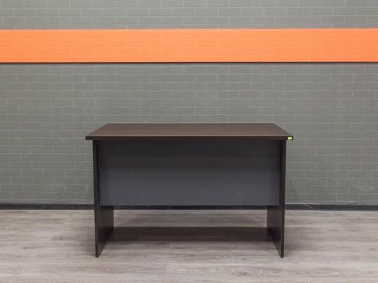Офисный стол прямой, венге и графит.