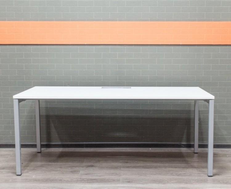 Стол компьютерный белый, офисная мебель бу