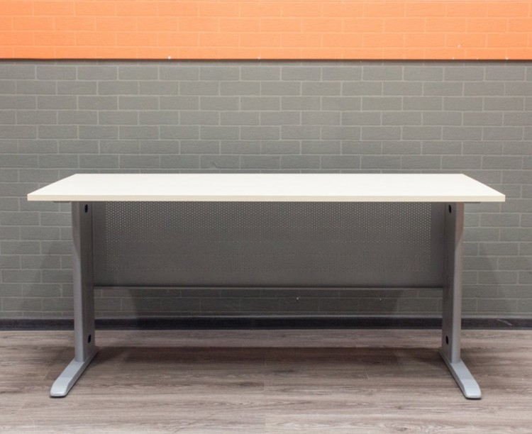 Стол офисный металлический, клен, 160х80