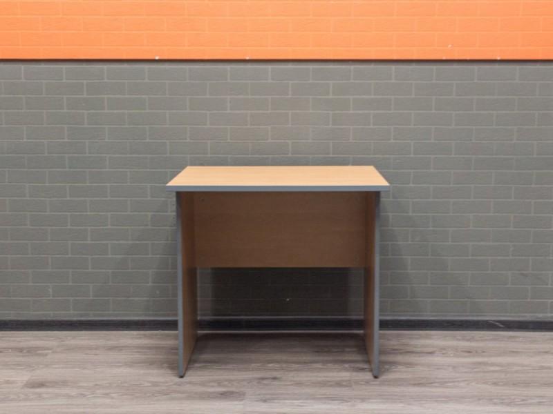 Стол офисный мини, ольха графит, 80х70