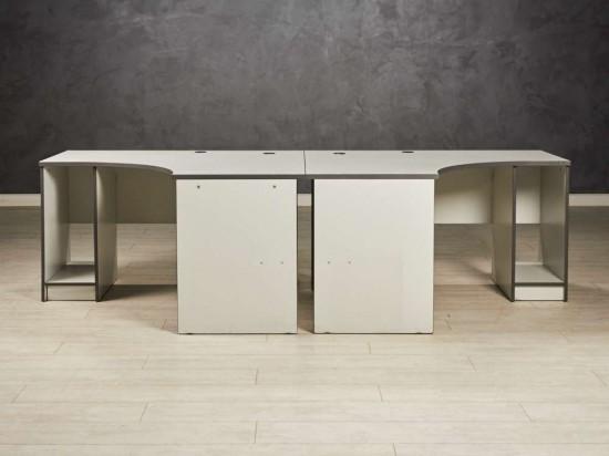 Комплект угловых столов  серый