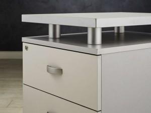 Стол угловой, цвет серый