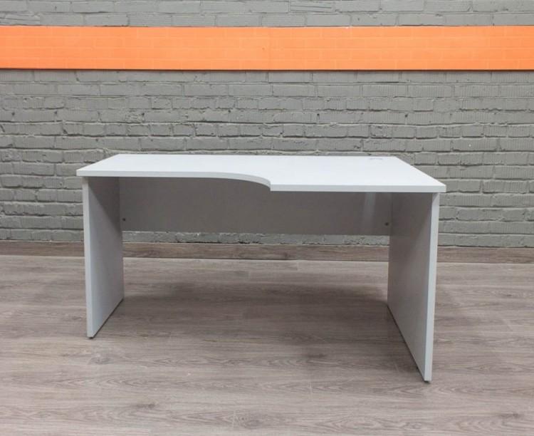 Угловой компьютерный стол, серый