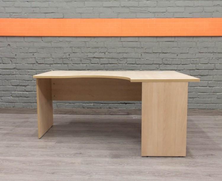 Угловой стол для сотрудника, бук