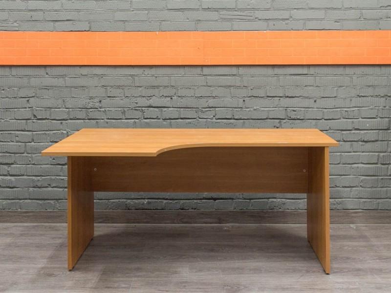 Офисный стол эргономичный, ольха
