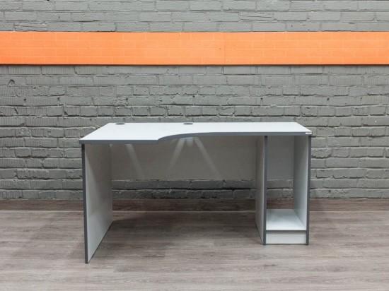 Компьютерный стол угловой, серый