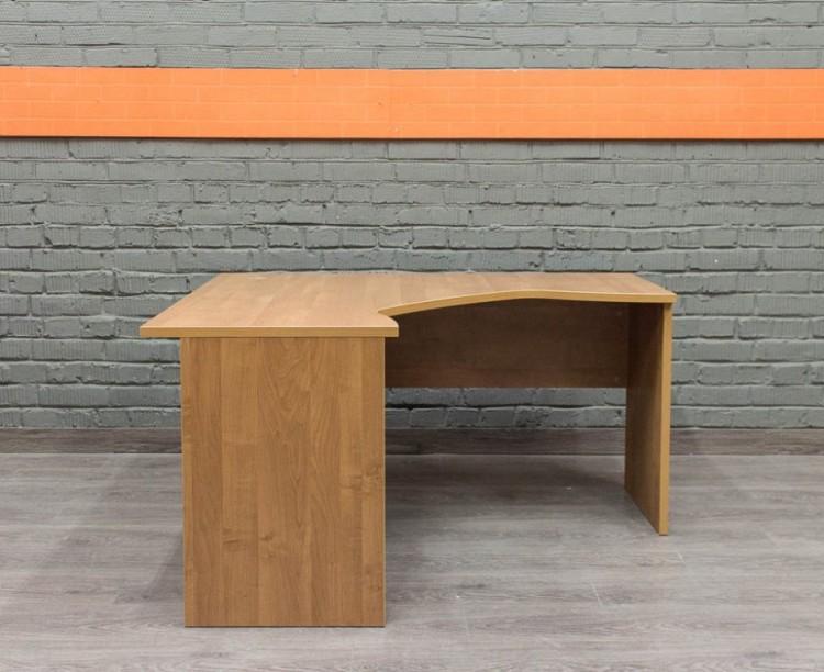 Стол угловой, ольха, офисная мебель бу