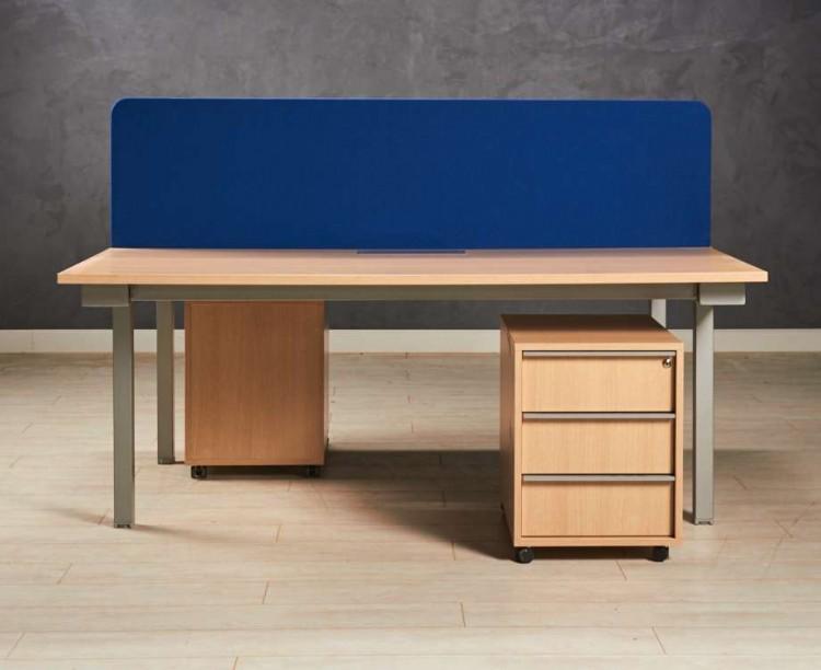 Бенч-система, стол для двух сотрудников, цвет дуб