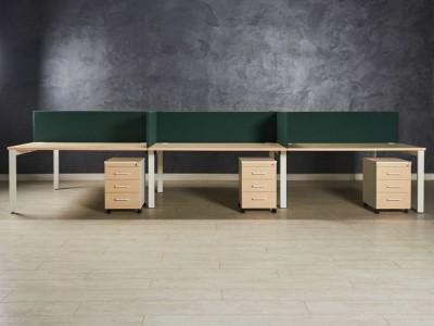 Бенч-система, стол для шести сотрудников