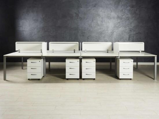 Бенч-система, стол для восьми сотрудников