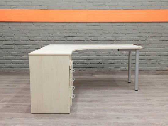 Эргономичный стол с тумбами, клен