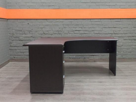 Угловой стол с приставной тумбой, венге