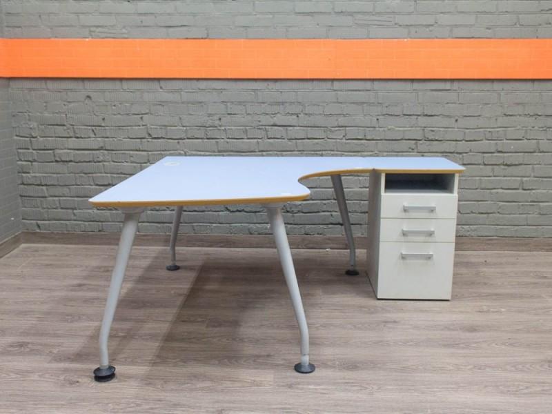 Стол компьютерный с приставной тумбой