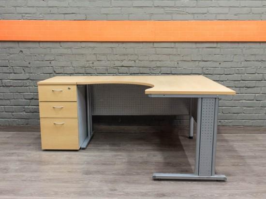 Компьютерный стол с тумбой, бук
