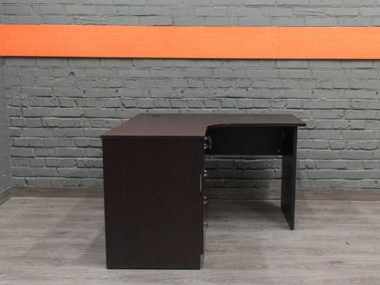 Угловой компьютерный стол с тумбой, венге