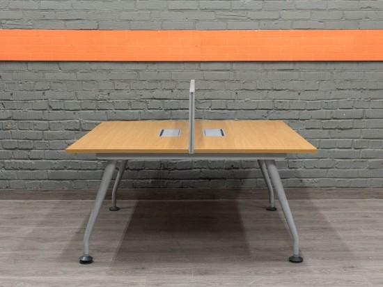 Стол офисный для двух сотрудников, бенч-система