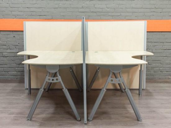 Офисные столы для двух сотрудников, МДФ